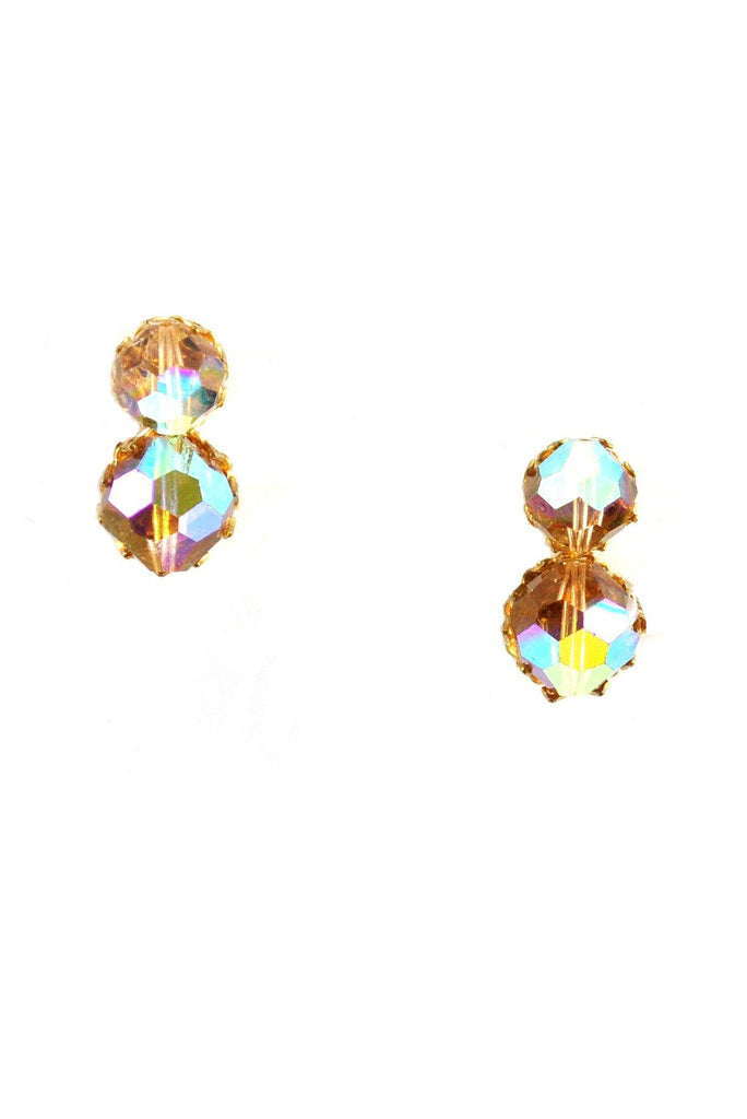 60s__Vintage__Iridescent Bauble Clip-On Earrings