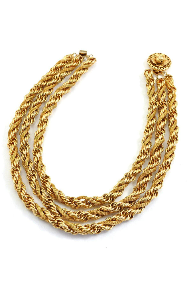 50's__Vintage__Chunky Rope Necklace