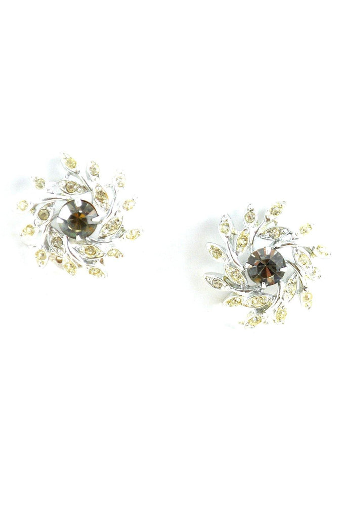 60s__Sarah Coventry__Rhinestone Burst Clip-On Earrings