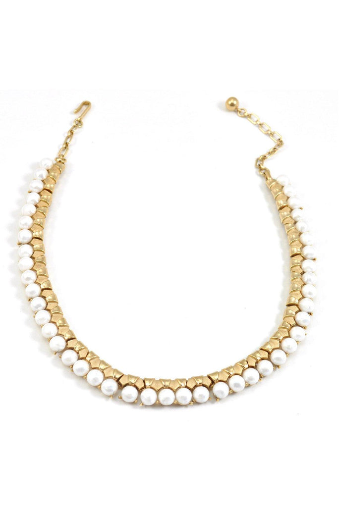 50's__Trifari__Pearl Statement Necklace