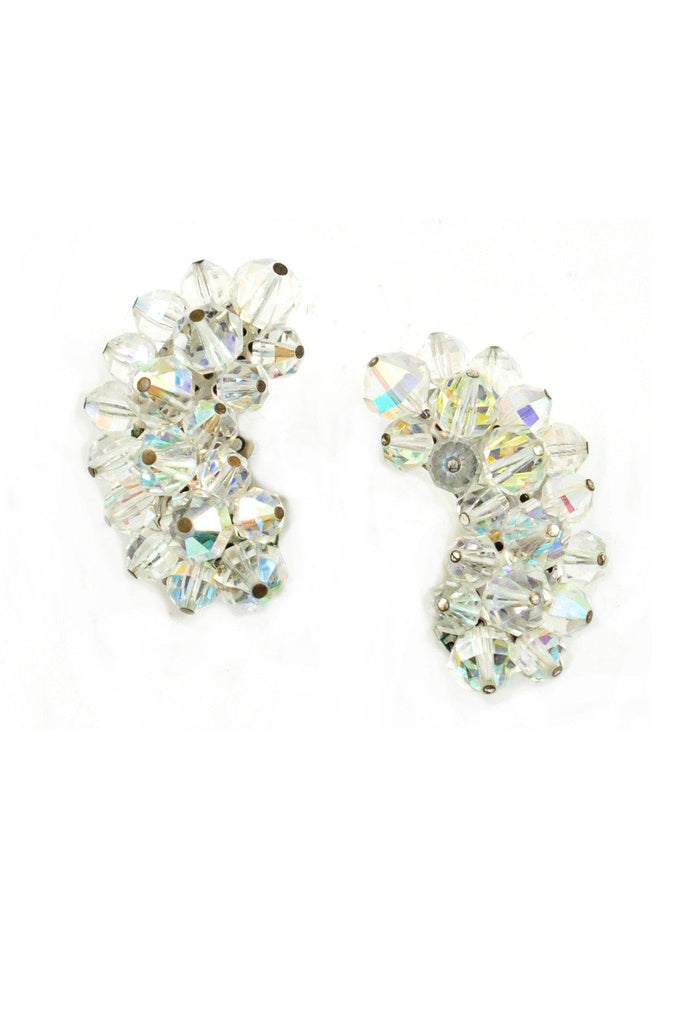 60s__Laguna__Crystal Crawler Clip-On Earrings