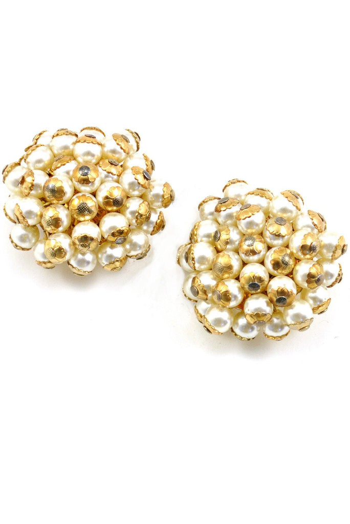 60s__Vintage__Statement Pearl Clip-On Earrings