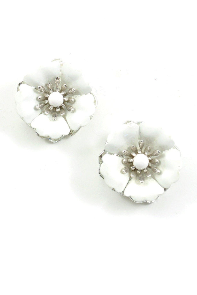 60s__Sarah Coventry__Statement Floral Clip-On Earrings