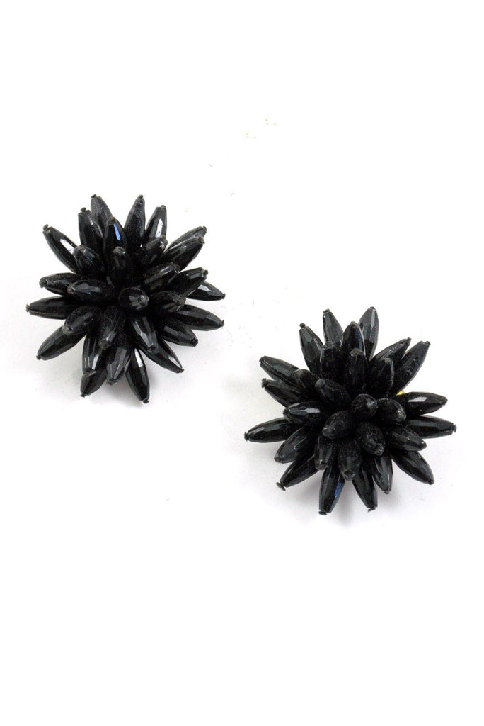 60s__Vintage__Beaded Burst Clip-On Earrings