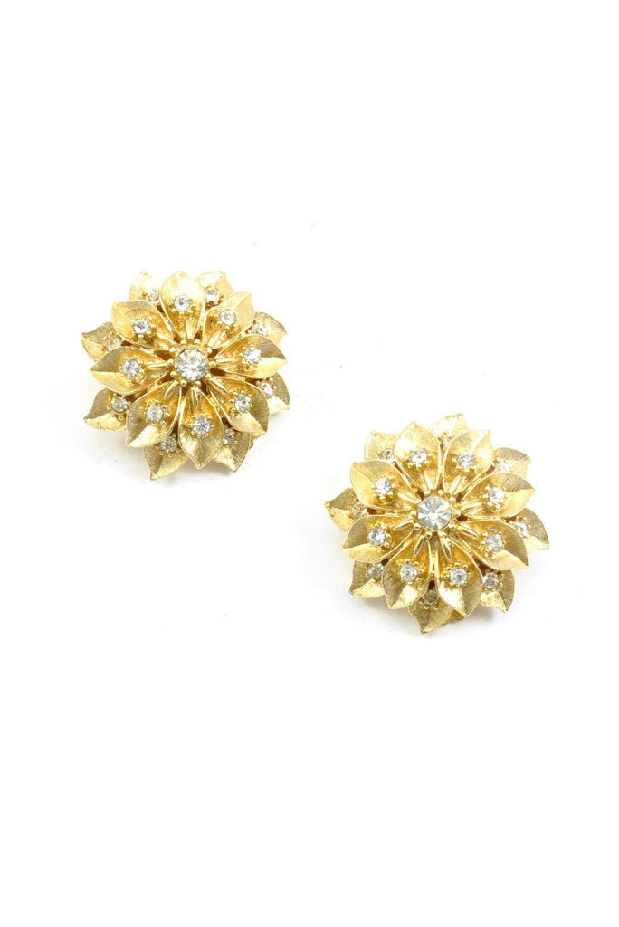 50s__Amerique__Rhinestone Burst Clip-On Earrings