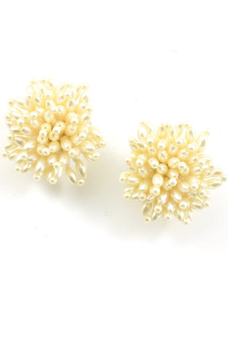 50s__Vintage__Statement Pearl Clip-On Earrings