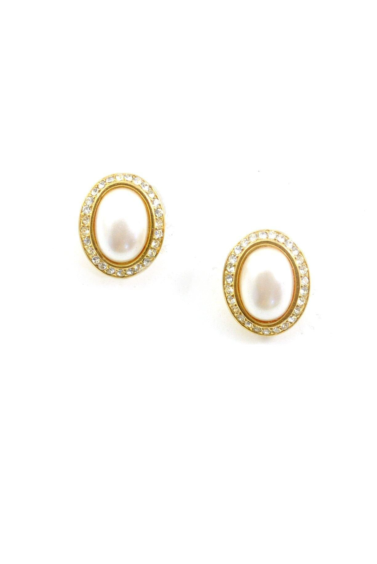 80s__Marvella__Pearl Pierced Earrings