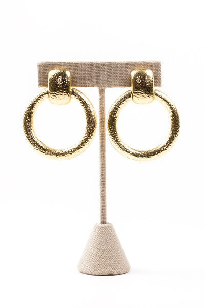70's__Monet__Hoop Clip-on Earrings