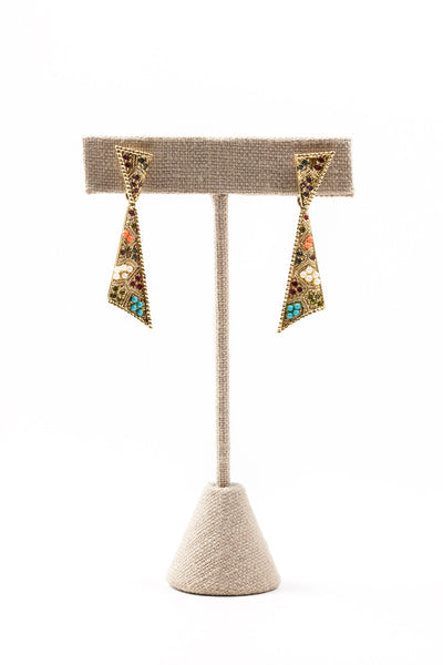 70's__D'Orlan__Beaded Drop Earrings