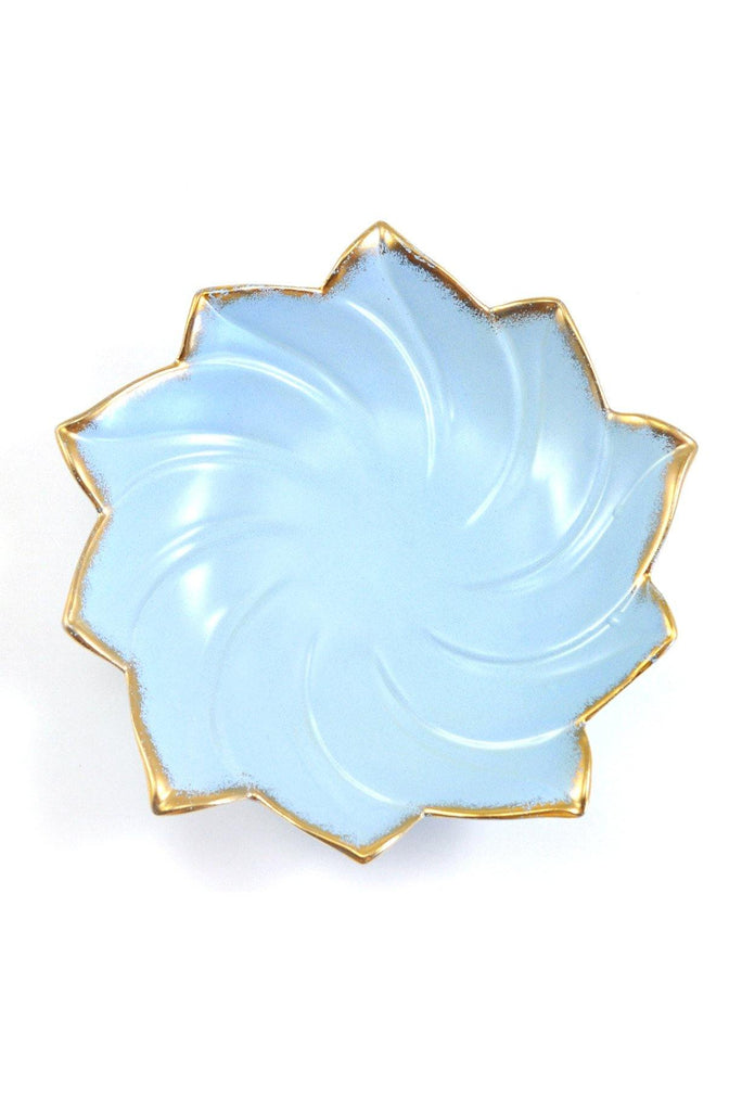 60s__Vintage__Light Blue Swirl Jewelry Dish