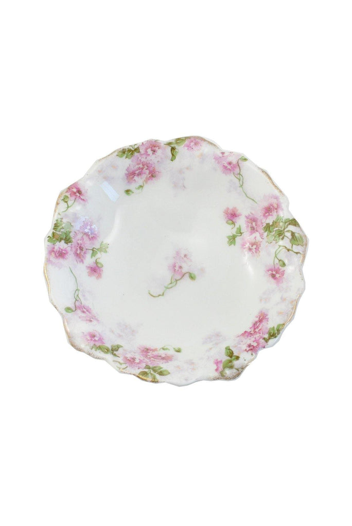 50s__Malmaison__Painted Floral Jewelry Dish