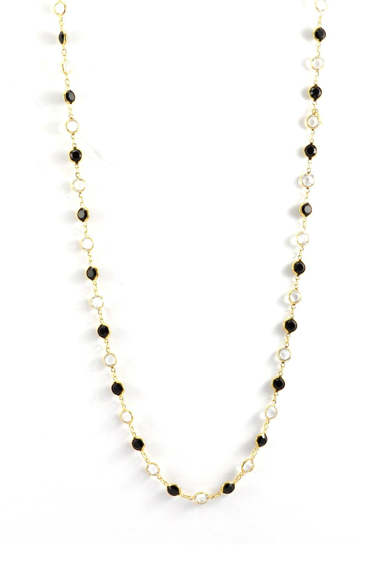 80s__Swarovski__Long Crystal Necklace