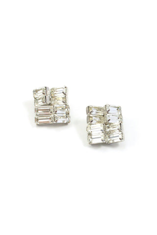 60s__Weiss__Statement Rhinestone Clip-On Earrings