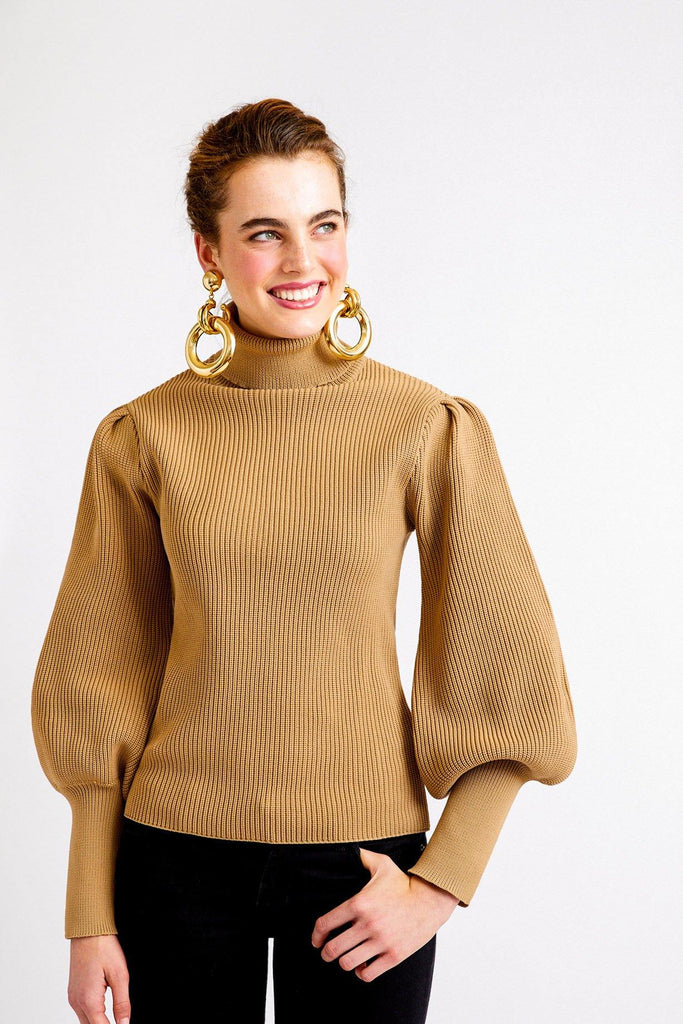 English Factory Puff Sleeve Turtleneck