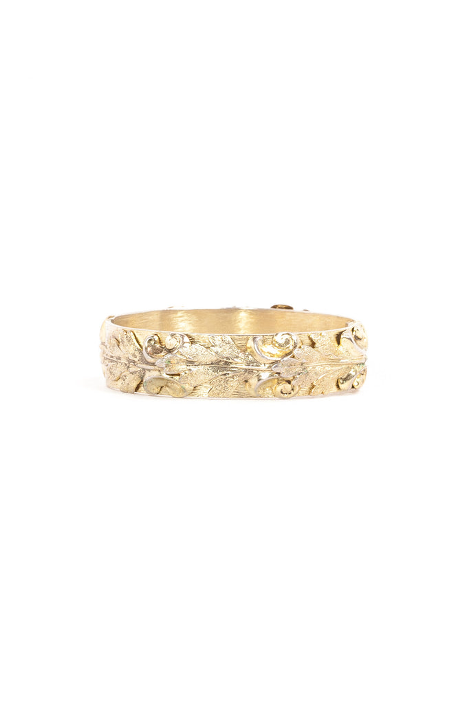 50's__Whiting & Davis__Textured Gold Bangle