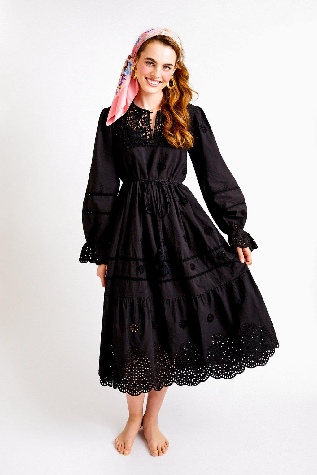 Free People Black Eyelet Maxi Dress