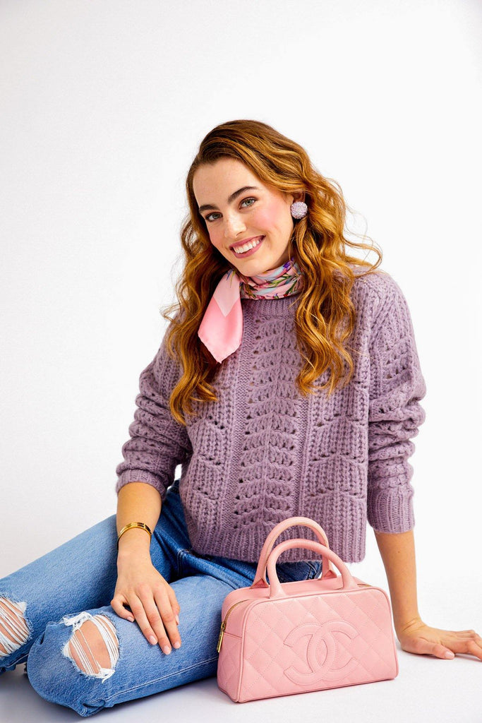 ASTR The Label Purple Georgia Sweater