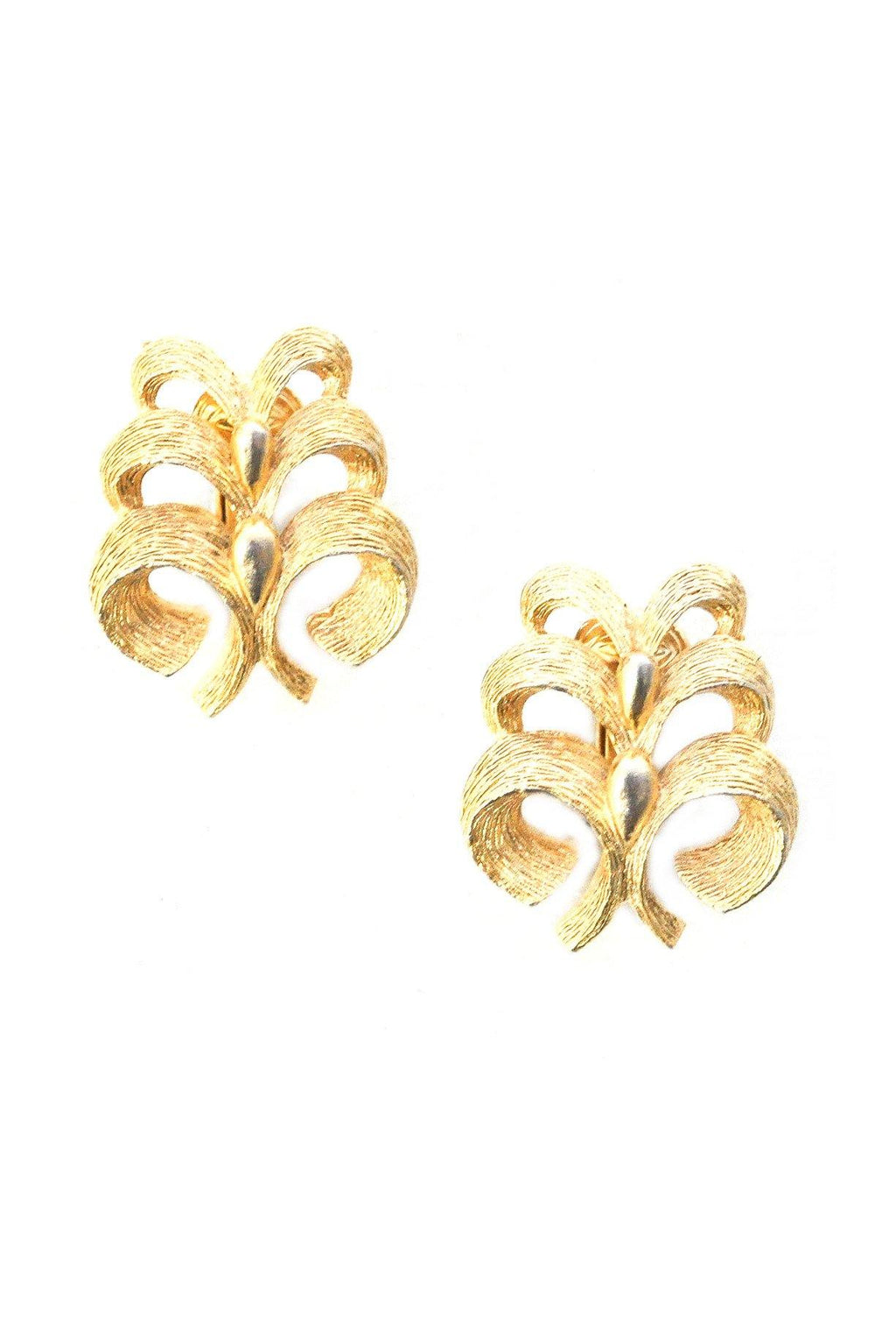 Stacked Tree Clip-on Earrings