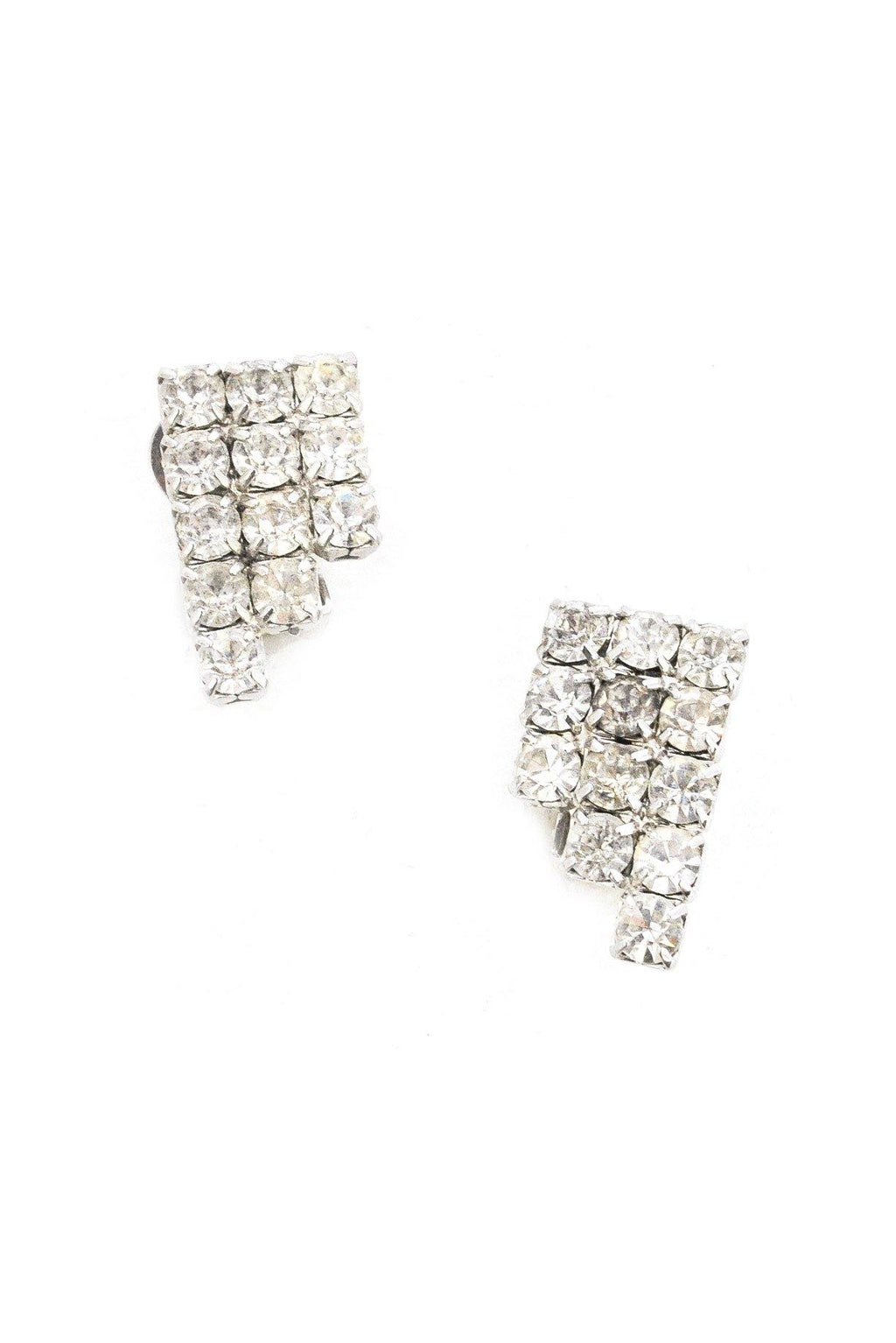 Rhinestone Stacked Clip-on Earrings