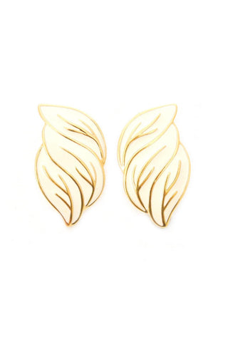 Statement Wing Pierced Earrings