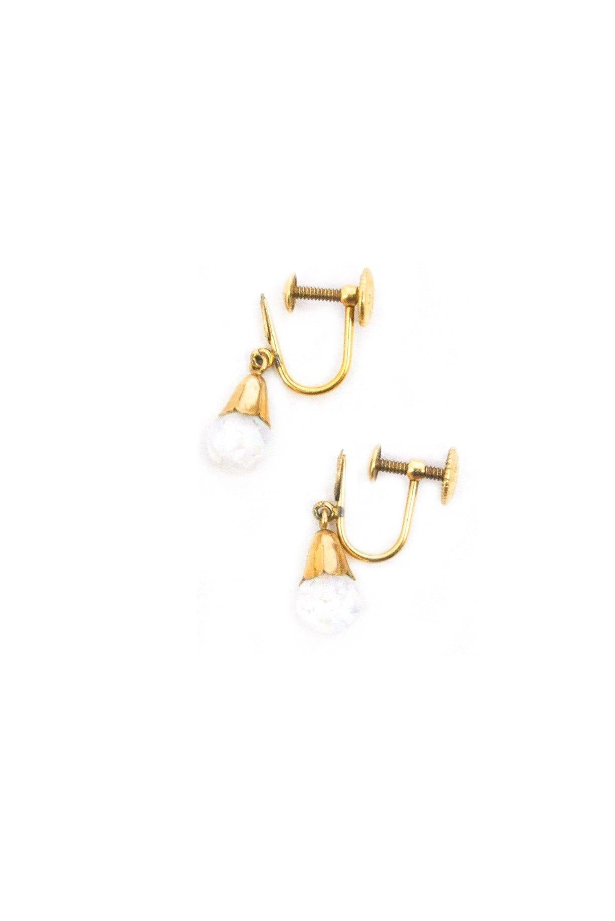Opal Drop Clip-on Earrings