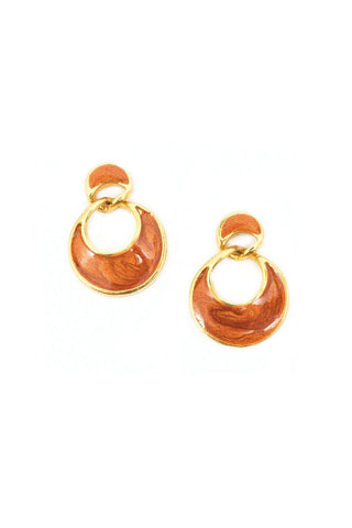 Nude Drop Pierced Earrings
