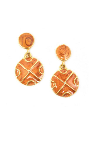 Nude Disc Pierced Earrings