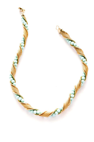 Twisted Teal Necklace
