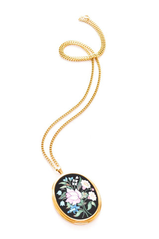 Neon Floral Pendant Necklace