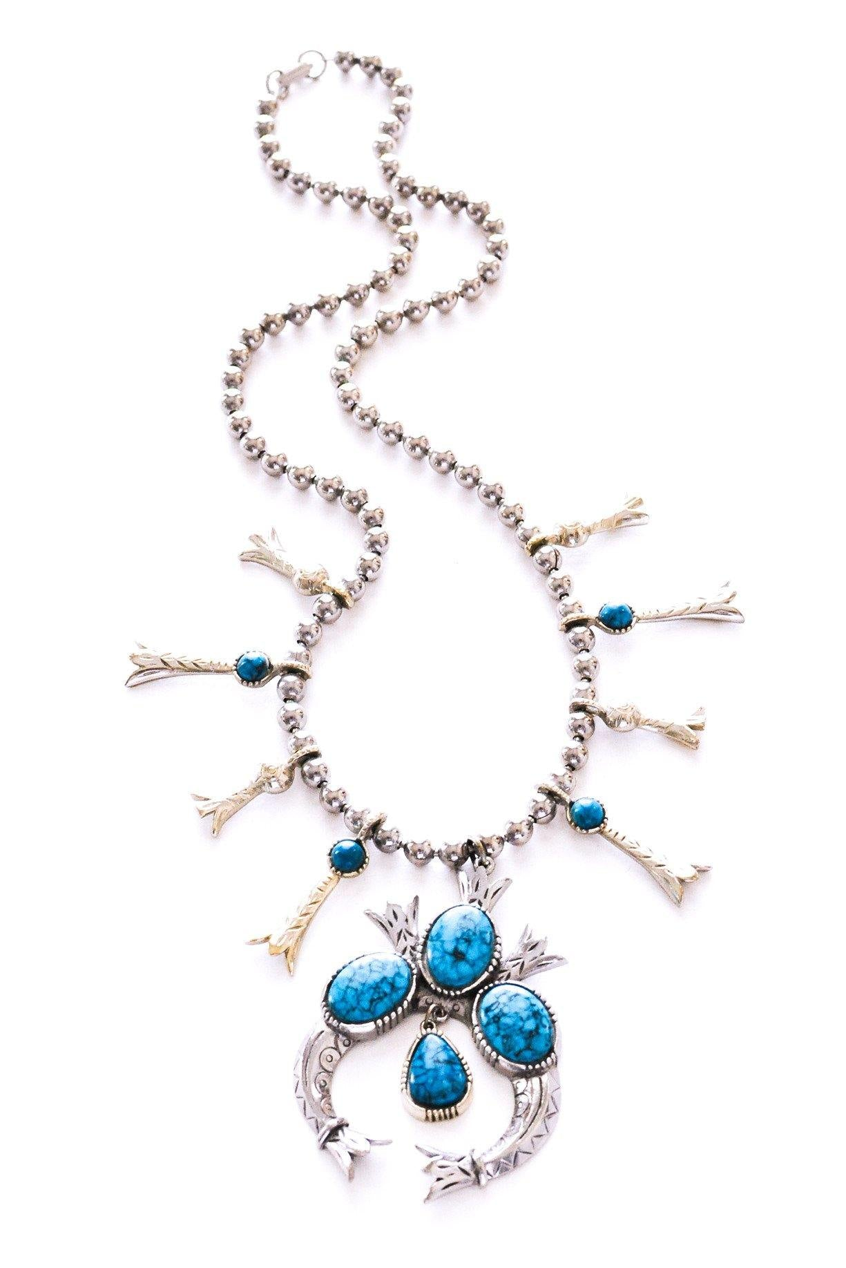 Squash Blossom Statement Necklace