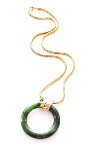 Jade Ring Pendant Necklace