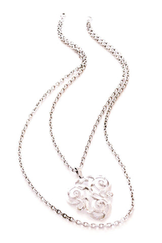 Silver Swirled Pendant Necklace