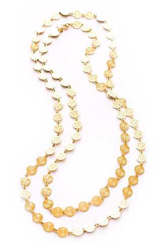 Flat Disc Chain Necklace