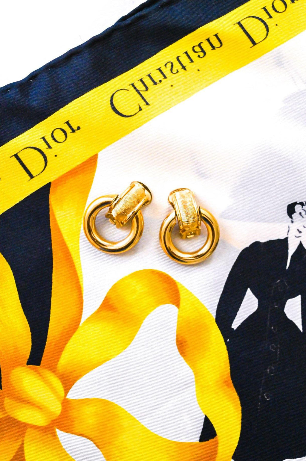 Christian Dior Door Knocker Clip-on Earrings
