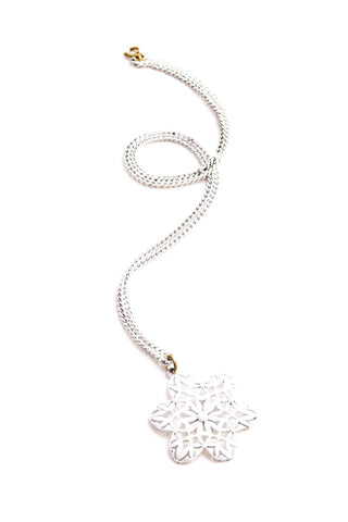 Floral Filigree Pendant Necklace