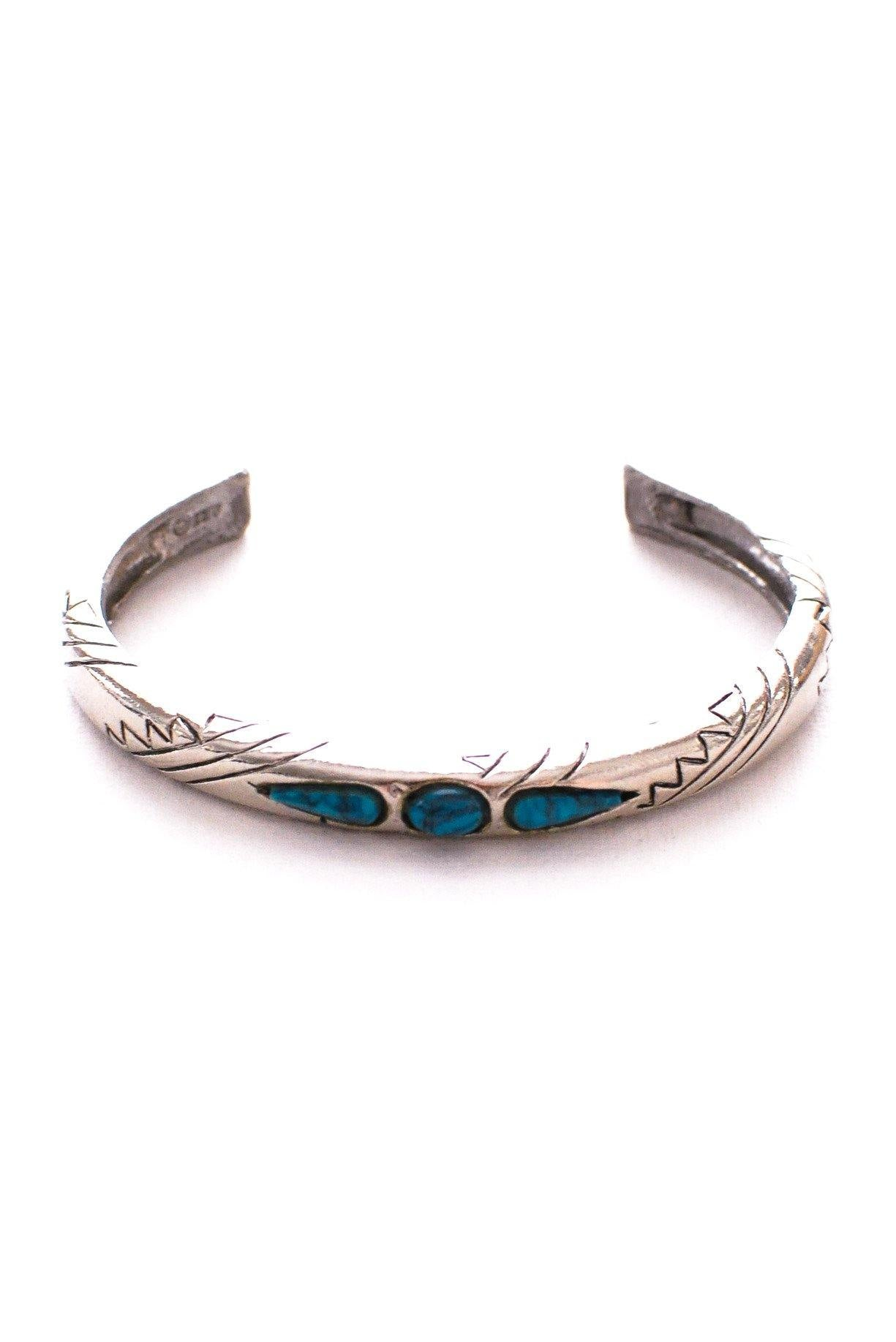 Skinny Turquoise Cuff Bracelet