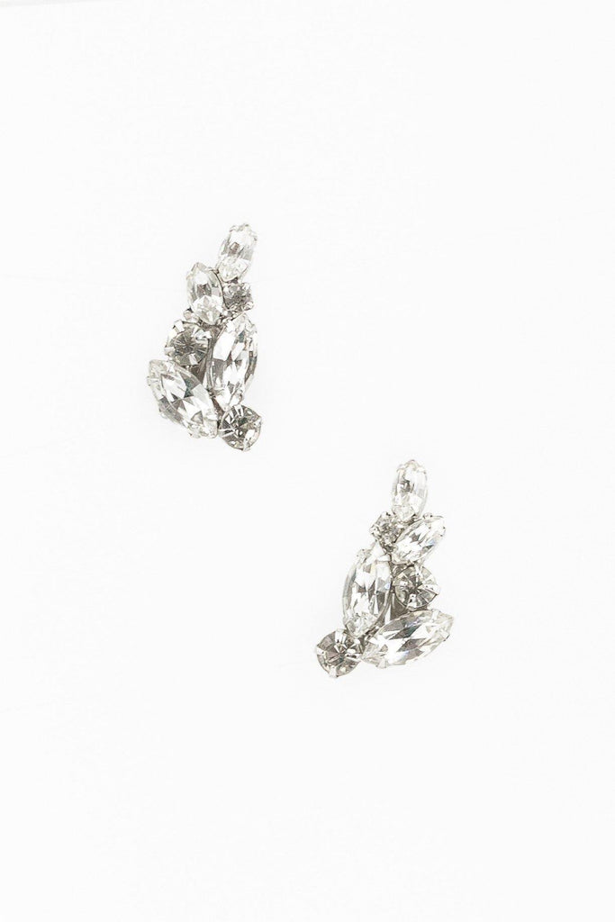 40's__Weiss__Rhinestone Cluster Clips