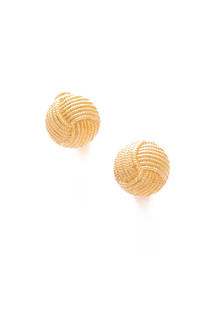 Domed Knot Clip-On Earrings