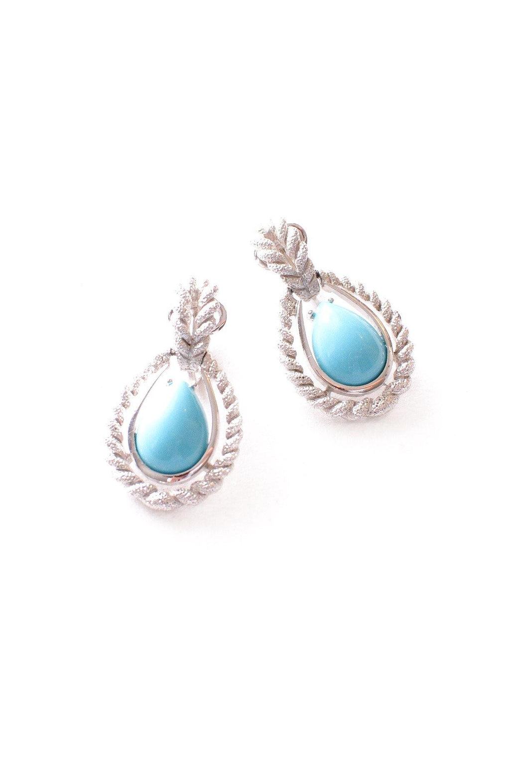 Turquoise Drop Clip-on Earrings