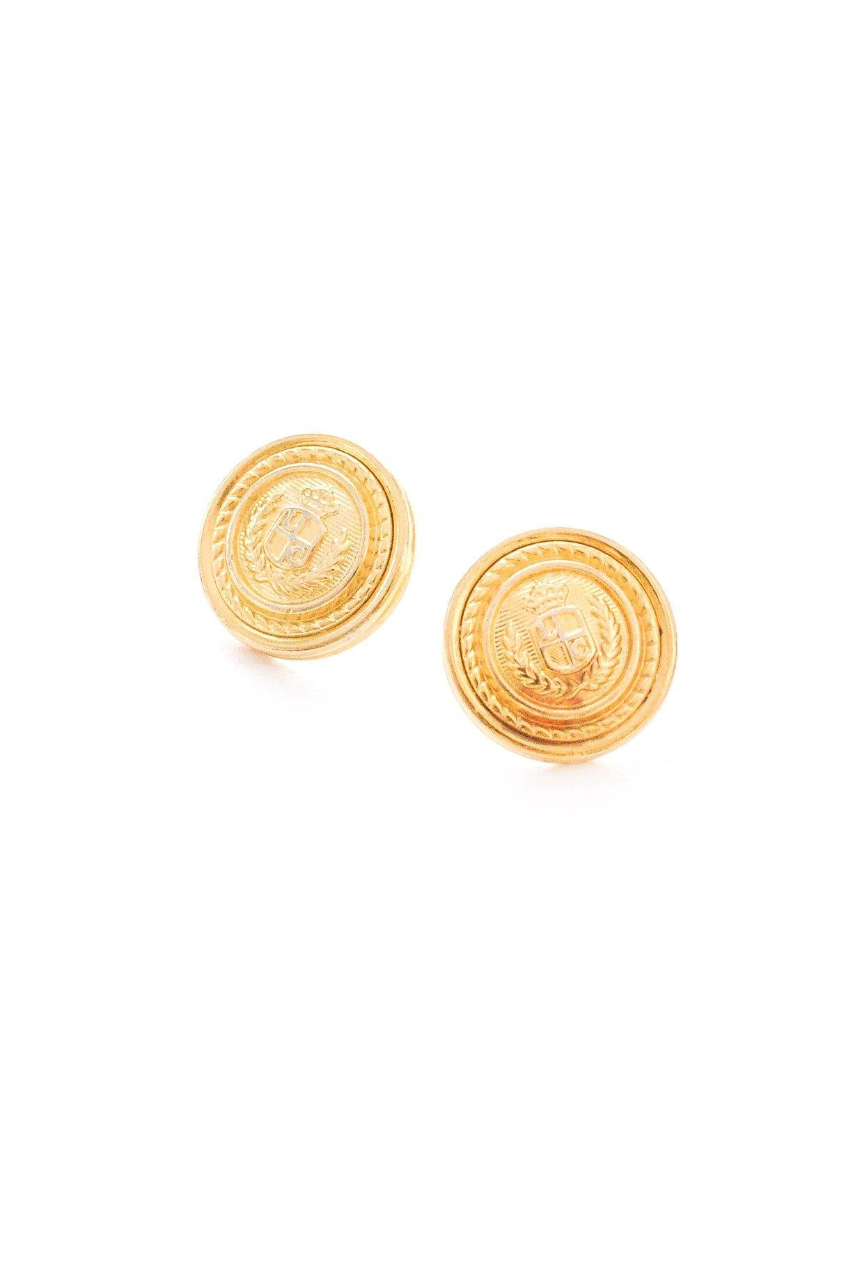 Classic Emblem Pierced Earrings