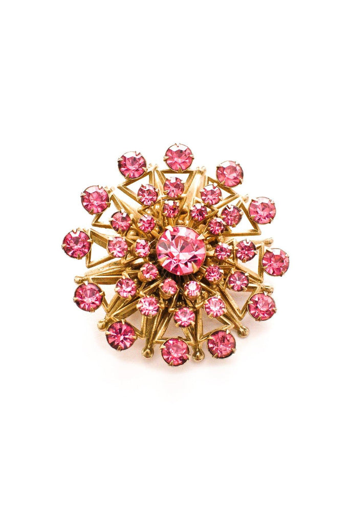 Pink Statement Burst Brooch