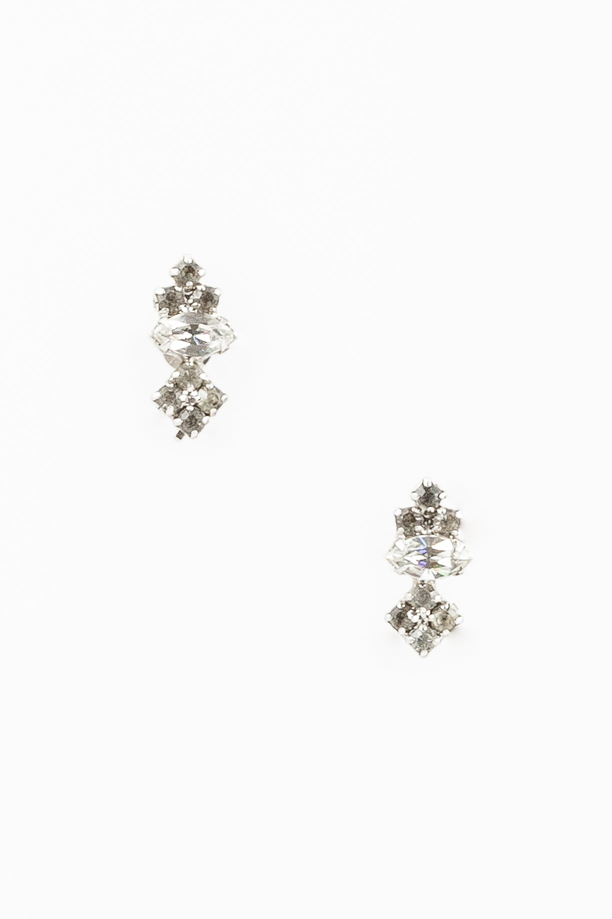 60's__Vintage__Simple Rhinestone Cluster Clips
