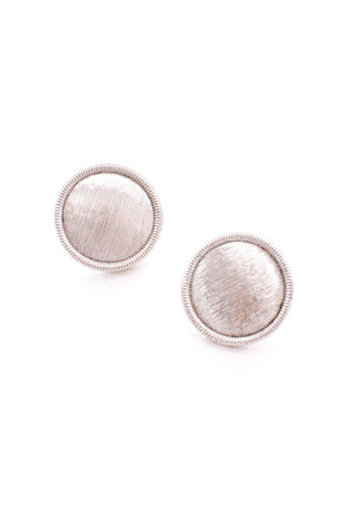 Etched Silver Clip-On Earrings