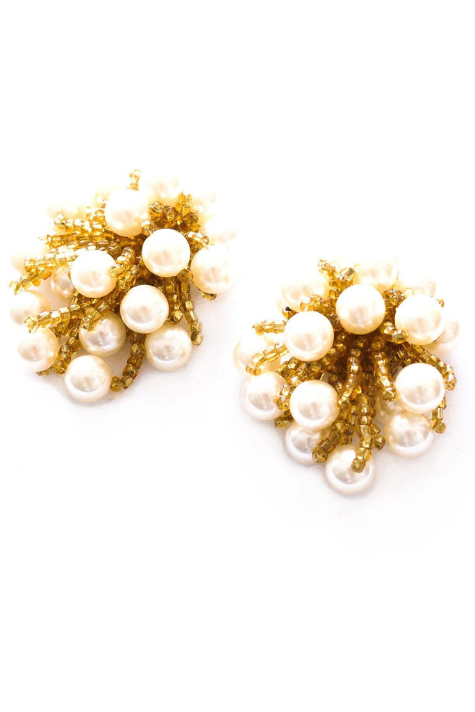 Chunky Pearl Clip-On Earrings