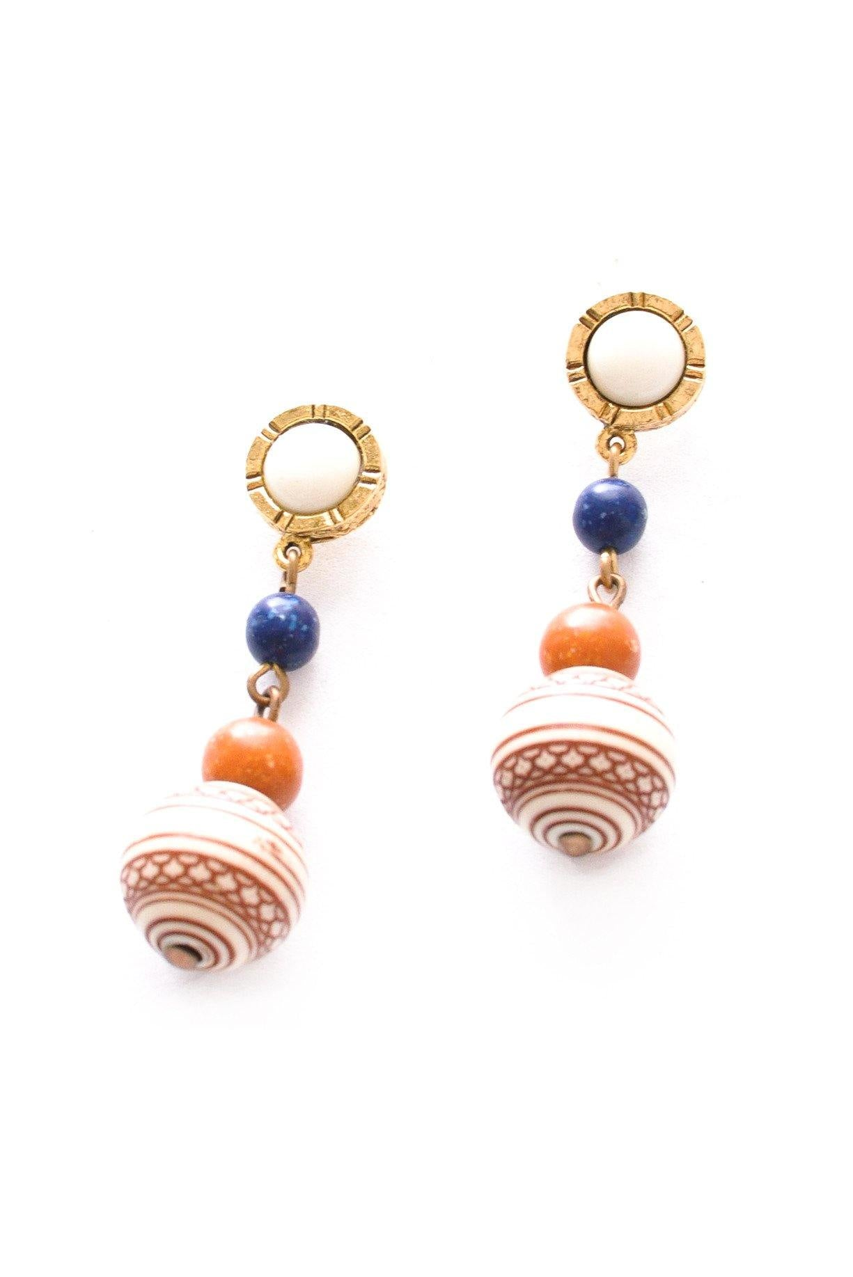 Boho Drop Pierced Earrings