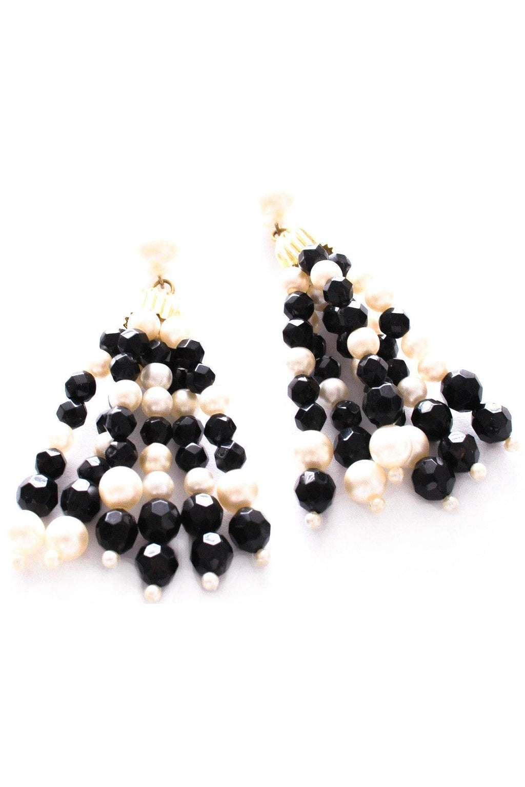 Beaded Tassel Pierced Earrings