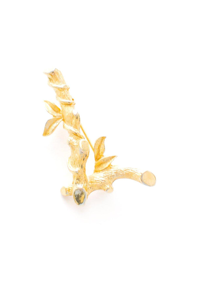 Bamboo L Initial Brooch