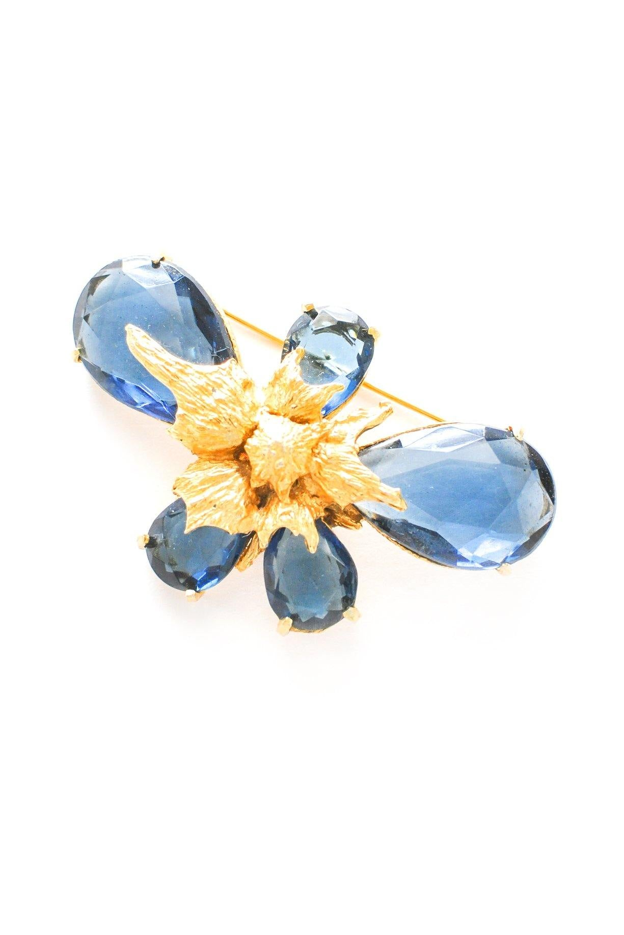 Navy Blue Statement Brooch