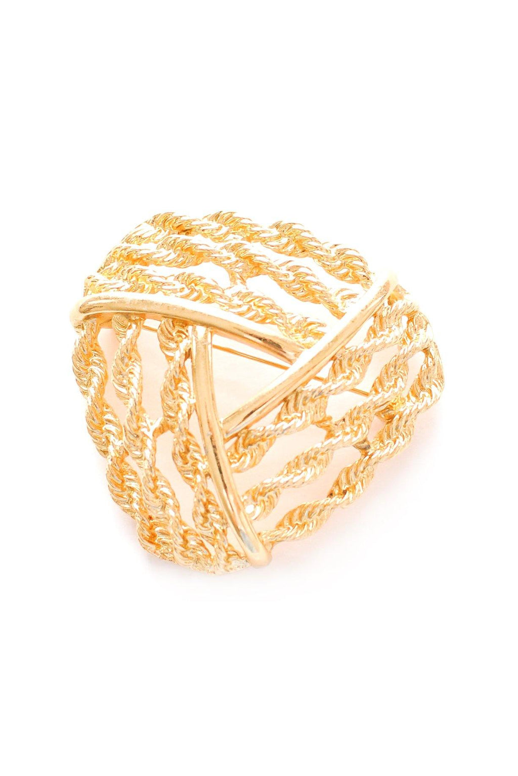 Classic Rope Knot Brooch