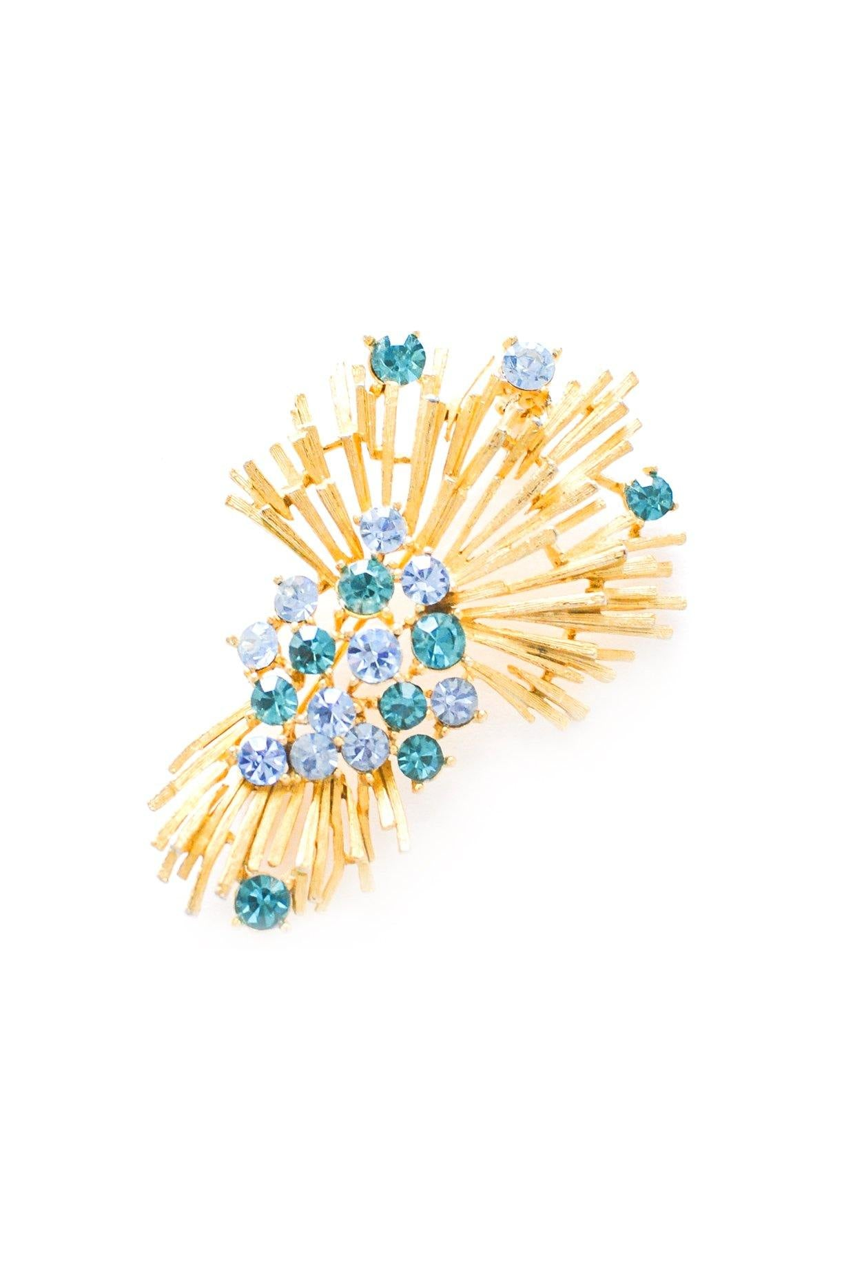 Rhinestone Spray Brooch